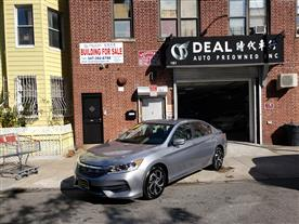 2016 HONDA ACCORD LX SEDAN CVT SILVER/BLACK 42K MILES STK#5437