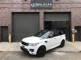 2015 LAND ROVER RANGE ROVER SPORT V8 SUPERCHARGED SC WHITE/ORANGE 24K MILES STK#2248