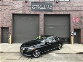 2015 MERCEDES-BENZ C-CLASS C300 4MATIC SEDAN OBSIDIAN BLACK METALLIC/BLACK, LEATHERETTE 53K MILES STK#10779