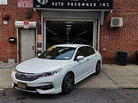 2017 HONDA ACCORD SPORT CVT WHITE/BLACK, CLOTH 43K MILES STK#10860