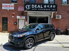 2016 TOYOTA HIGHLANDER XLE AWD V6 BLACK/BLACK, LEATHER 36K MILES STK#13352