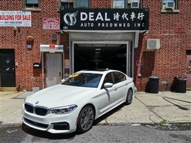 2017 BMW 5-SERIES 540I XDRIVE WHITE/TAN 12K MILES STK#13371