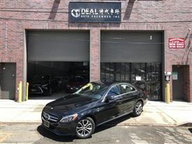 2016 MERCEDES-BENZ C-CLASS C300 4MATIC SEDAN BLACK/BLACK, LEATHER 25K MILES STK#13369