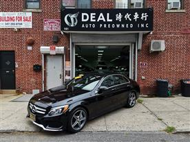 2016 MERCEDES-BENZ C-CLASS C300 4MATIC SEDAN BLACK/BLACK, LEATHER 45K MILES STK#20014
