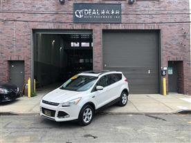 2016 FORD ESCAPE SE 4WD WHITE/CHARCOAL BLACK LEATHER 58K MILES STK#27220