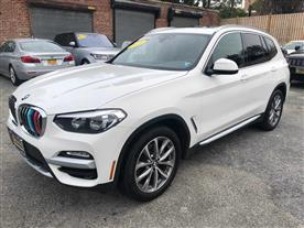 2019 BMW X3 XDRIVE30I - XLINE PACKAGE ALPINE WHITE/BLACK SENSATEC, LEATHERETTE 21K MILES STK#27791