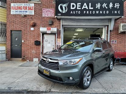 2015 TOYOTA HIGHLANDER XLE AWD V6 ALUMINA JADE METALLIC/ALMOND, LEATHER 75K MILES STK#28949